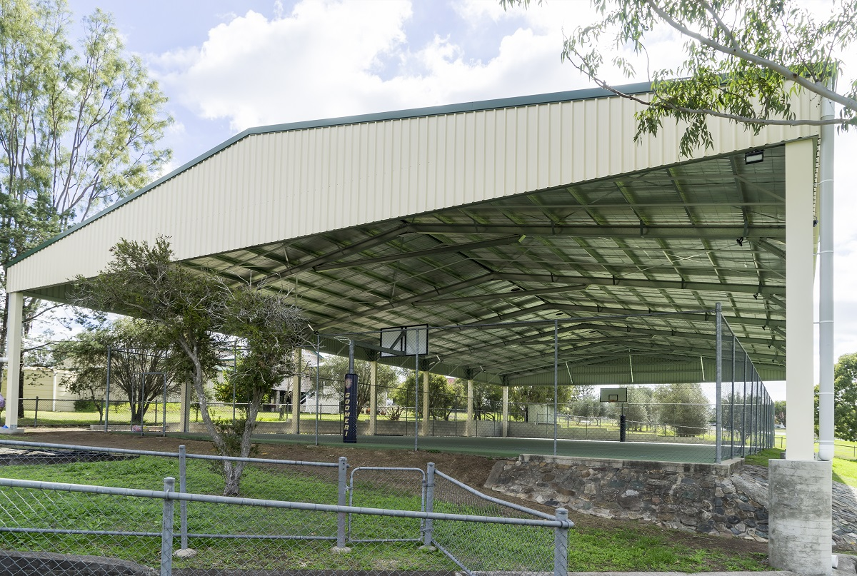 Single Sports Court Roof Cover